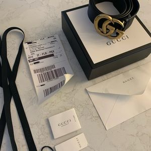 GUCCI GG Belt size 100 black/gold